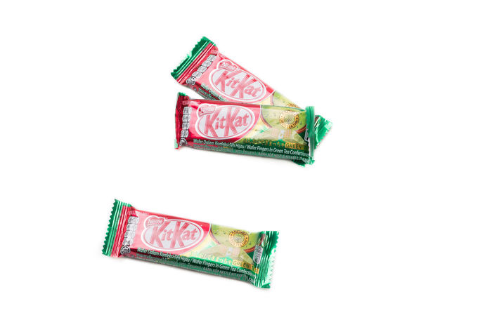 Kit Kat Green Tea Chocolate Chocolate Chocolate Bar Green Isolated Nestle Snack Bar Calorie Crunchy Eat Energy Fat Flavor Food Glucose Green Tea Kit Kat Kitkat Kitkatgreentea Sweet Wafer White Background