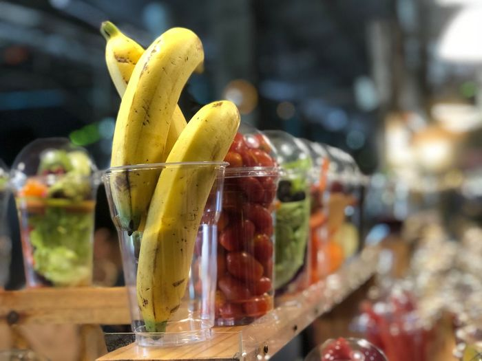 Fresh fruits ready for sell Food And Drink Food Drink Fruit Refreshment Glass Healthy Eating Focus On Foreground Freshness Close-up Still Life Drinking Glass Household Equipment Wellbeing No People Indoors  SLICE