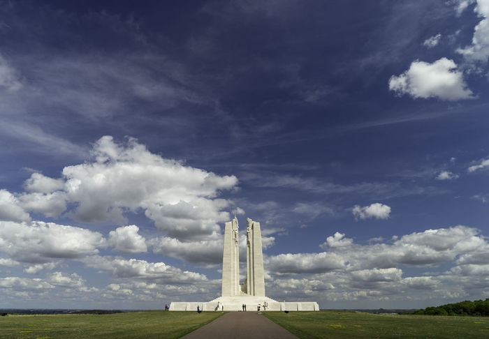 Architecture Big Sky Memorial Vimy Ridge Memorial Art Blue Sky Built Structure Clouds Day No People Sculpture