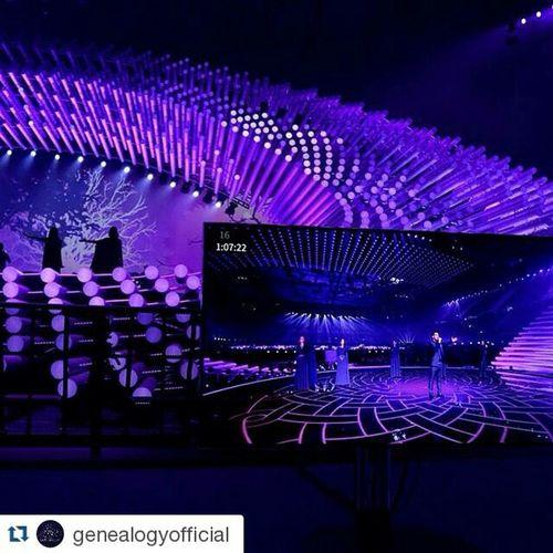 Repost @genealogyofficial ・・・ Genealogy's second rehearsal on stage yesterday 🇦🇲 💜💜💜 Armenia Eurovision ESC2015 Genealogy BuildingBridges favetheshadow Austria Vienna