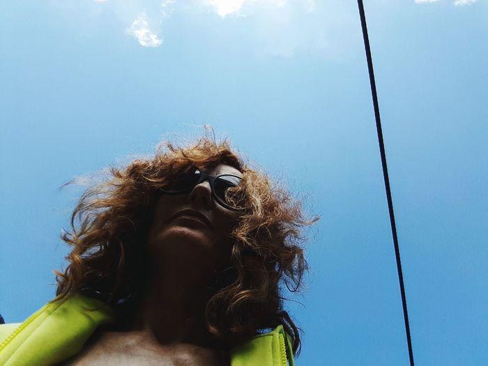 hair Hair Portrait Woman Who Inspire You Womanportrait Sunlight Colors Blue Sky