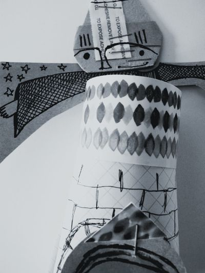 Black And White Monochrome Sculpture Person Portrait Cute Illustration Paper View Paper Textures And Surfaces Drawing Creativity Studio Printmaking Figure Showcase: December Wizard Face Figurative Art Creation Contemporary Materials Creative Shape