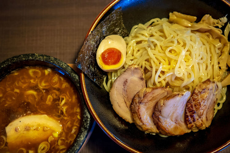Tsukemen Tsukemen Bowl Dinner Food Food And Drink High Angle View Meal Ramen Ready-to-eat