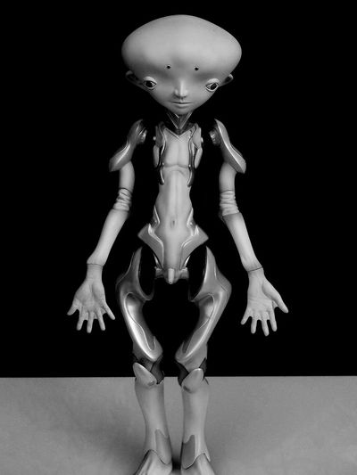 Alien Alieno Art Arte Better Look Twice Bianco E Nero Black And White Creativity EyeEm Best Shots EyeEm Gallery Grey Grigio Here Invasion Invasione Nohuman Sculpture Somethingstrange Strange Strano Black And White Friday