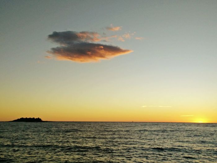 Cloud in the sunset Sunset Croatia Vrsar Reflections In The Water Relaxing End Of Summer