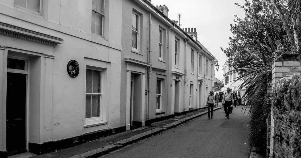 Terraced houses, Fowey, Cornwall Black And White Architecture Cornwall Monochrome