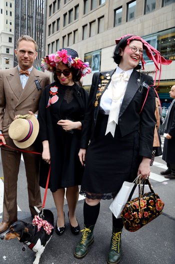 New York Fifth Avenue Easter Parade & Bonnet Festival, 2018 Fashion Stories Open Edit The Portraitist - 2018 EyeEm Awards Adult Architecture Building Exterior City Clothing Day Emotion Front View Full Length Group Of People Incidental People Leisure Activity Lifestyles Looking At Camera Men Outdoors People Real People Standing Togetherness Women The Street Photographer - 2018 EyeEm Awards