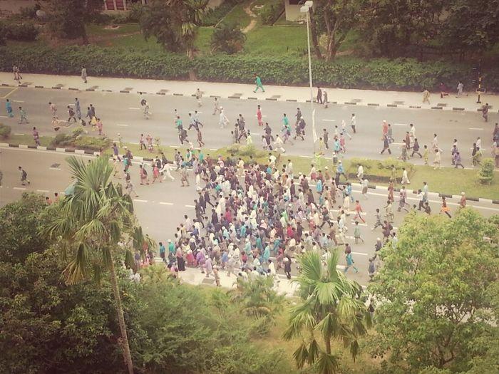 Maulud Nabi parade. Street City