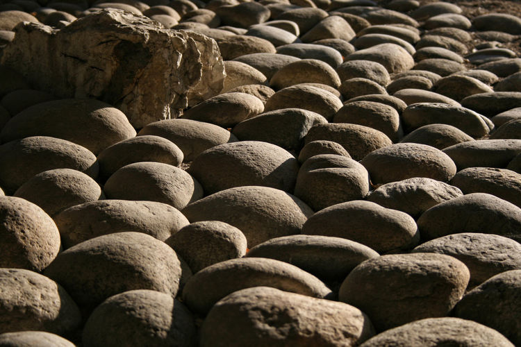 Colors Homogeneous Neutral Colors Rock Textured  Backgrounds Close-up Cobblestone Day Floor Focus On Foreground Full Frame Ground Ground Level View Material No People Outdoors Pattern Rough Stone Shadow Sidelight Stone Surface Level Textured  Warm Light