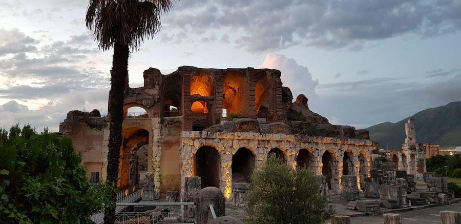 Architectural Column Roman Arch Historic Amphitheater Archaeology