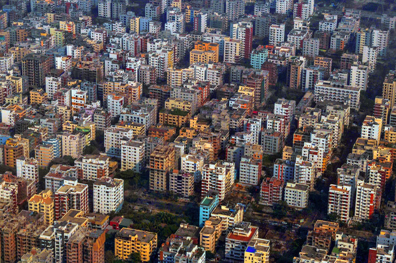 Building Exterior City Architecture Built Structure Cityscape Building Skyscraper Office Building Exterior Crowd Aerial View High Angle View Full Frame Residential District Crowded Modern Backgrounds City Life Landscape Illuminated Dhaka City Of Dhal