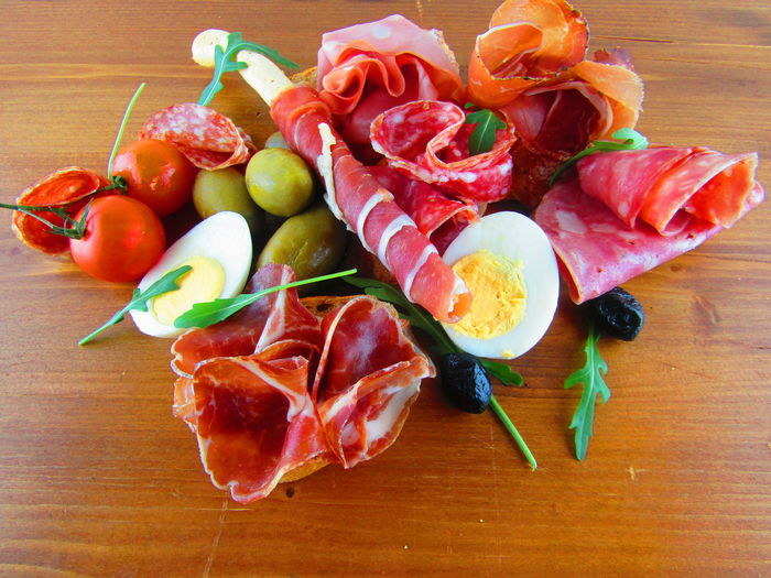 Annecy, France Appetizer Breadstick Coppa Salami Curedmeats Food Food And Drink Ham Ham Parma Italian Antipasto Italian Food Italian Salami Italy Mortadella Olives Plate Salamis Speck Table Tomatoes