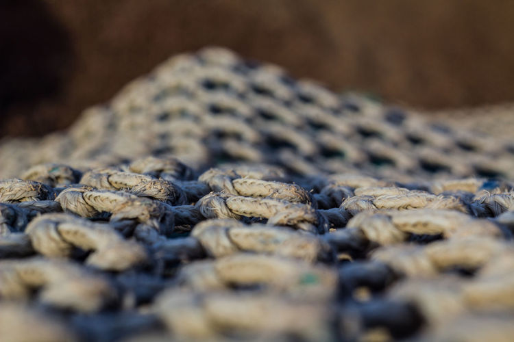 Close-Up Of Rope On Field