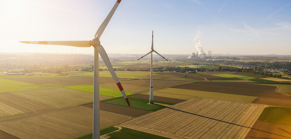 Wind turbine with coal power plant view from drone - Sustainable development, environment friendly, renewable energy concept - copyspace for your individual text Windmill Wind Turbine Wind Power Wind Farm Wind View Turbine Traditional Tower Technology Sunset Sunlight Sun Sky Saving Rural Scene Rotors Renewable Energy Renewable Propeller Power Pollution Outdoors No People Nature Landscape Land Industry Industrial High Green Technology Global Warming Generator Fuel And Power Generation Fuel Friendly Field Environmental Conservation Environmental Environment Energy Production Energy Emissions Electricity  Electrical Electric Ecology Ecological Eco Drone  Day Construction Concept Coal Power Plant Coal Clean Built Structure Blades Blade Architecture Alternative Energy Alternative Agriculture Aerial Above