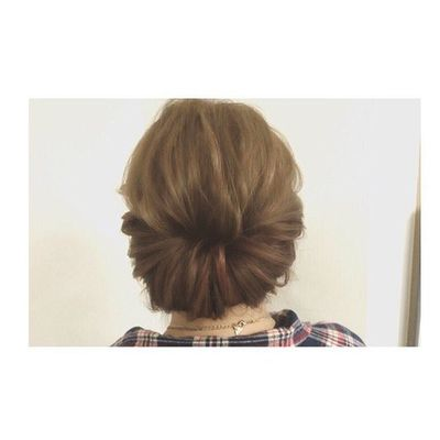 ギブソンタック♡ 毛流れを綺麗に、ルーズに♡ 神4コンテスト ヘアセット アレンジ Hair セットサロン ゼット ヘアアレンジ
