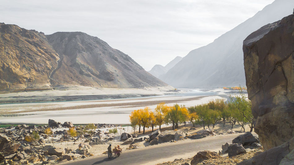 Along The Way Autumn Beauty In Nature Landscape Mountain Mountain Range Nature Outdoors Pakistan River River View Scenics