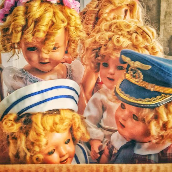 too many dolls Doll Dolls Vintage Old Blond Hair Blond Faces