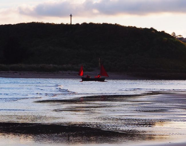 Red Sail Redsails to the Sunset Northumberland Alnmouth