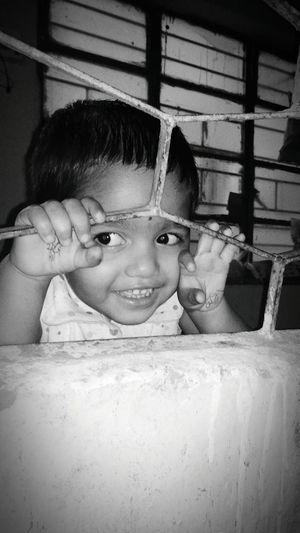 Cuteness behind The Cage Children Freedomwall Cutegirl Eyemphotography EyeEm Best Shots - Black + White