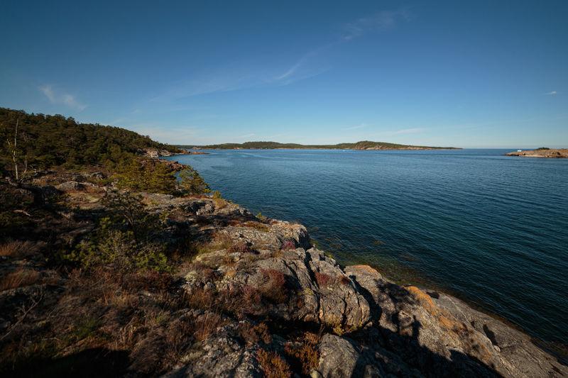 Rock formations on stora björn island in sotckholm archipelago