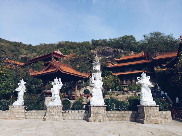 Tradition Cultures Travel Destinations No People Outdoors Day Sculpture Roof Tree Architecture Sky Representing Pagoda Architecture Travel Beauty Nature