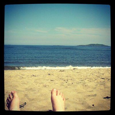 Day off on the beach. Maine Beach Popham Pophambeach Sea Ocean Waves Sand
