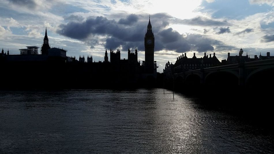 Travel Destinations Cloud - Sky Architecture Politics And Government River No People City Outdoors Water Building Exterior Thames London Uk England House Of Parliament Big Ben Sunset Bridge Clock Tower