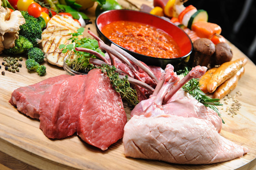 Abundance of raw meat and vegetables on a wooden board Beef Ingredients Pork Raw Meat   Beef Chicken Fillet Close-up Cutting Board Fillet Food Food And Drink Healthy Eating Indoors  Meat No People Preparation  Preparation  Preparing Food Raw Chicken Raw Food Steak Vegetable Wooden Board