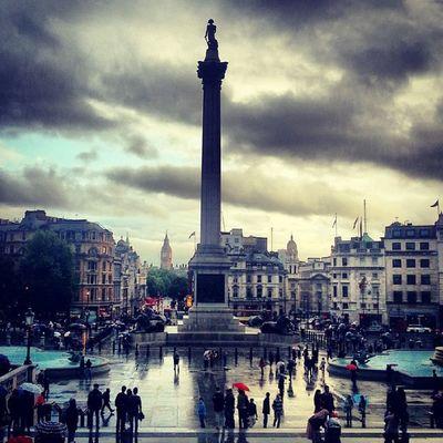 Lieblingsplatz ♥ Trafalgarsquare Charingcross Whitehall Bigben london home rainyday