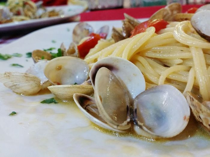 Spagetthi Vongole Pasta Naples Italian Food Italy Clams