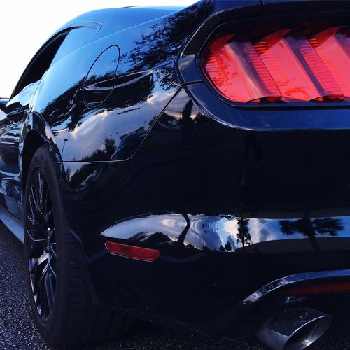 Tailight Sideview Reflection Black Automobile Ford Mustang GT S550 Beautiful Design Ford Mustang No Bad Angles Red Halo