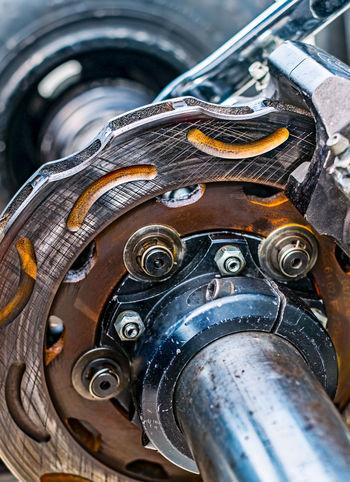 disc brake maintenance Close-up Day Disc Break Gear Indoors  Metal No People Technology