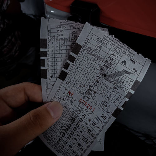 Ticket for