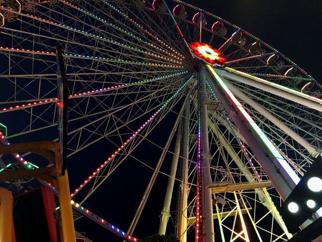 Prater in Vienna,Austria Stock Photos Amusement Park Amusement Park Ride Arts Culture And Entertainment Austria ❤ Blue Built Structure City Europa Ferris Wheel Fun Illuminated Low Angle View Multi Colored Night No People Outdoors Prater Sky Stock Image Tourism Travel Travel Destinations Travelling Vienna