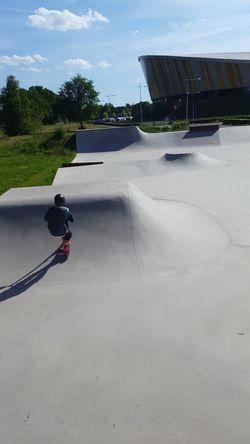 At the Skate Park withy friends🙌☻ Sport Scooter Bmx  Skateboard Kickless-rewind