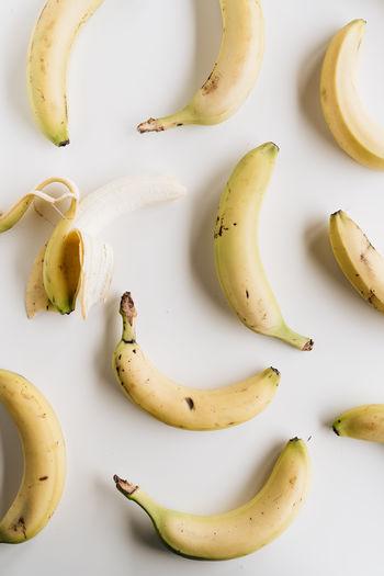 High angle view of bananas