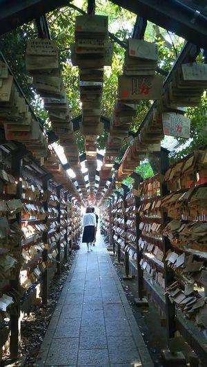 これで最後w 今日一日楽しかったぁ 氷川神社 Japanese Shrine 絵馬 Votive Picture 川越 Japan