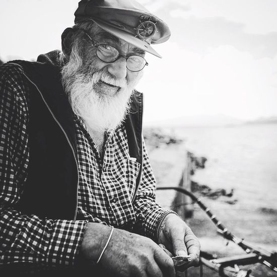 Puerto Varas - Chile Portrait Chile Old Man Blackandwhite Photography