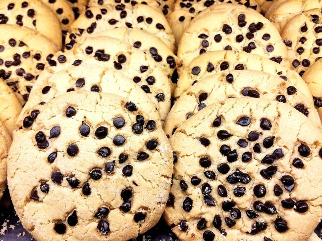 Baked Baked Goods Bakery Baking Chocolate Chocolate Chips Close-up Cookie Cookies Directly Above Food Food And Drink Freshness Full Frame High Angle View Homemade Mexican Food Mexico No People Pan Dulce Pastries Pastry Sugar Sweets Textured