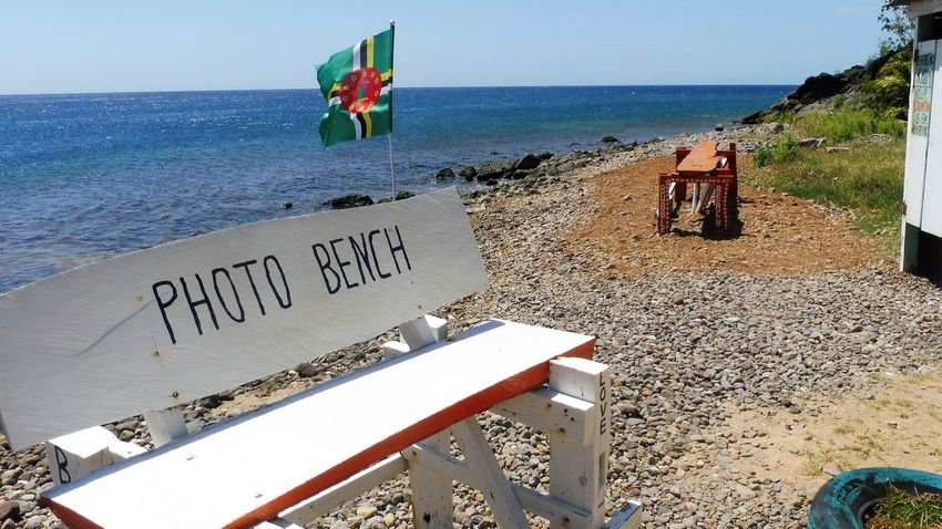 Beach Caribbean Dominica No People Photo Bench Scotts Head Soufriere Bench Benches_Of_The_World_Unite Tranquility Bubble Beach
