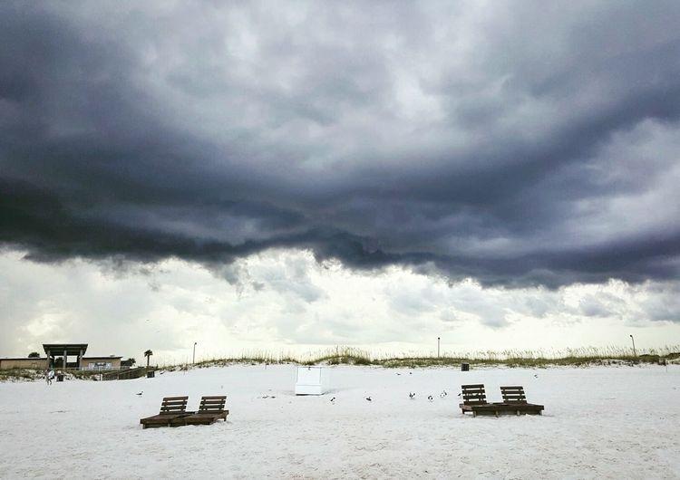 Storm Deserted Beach
