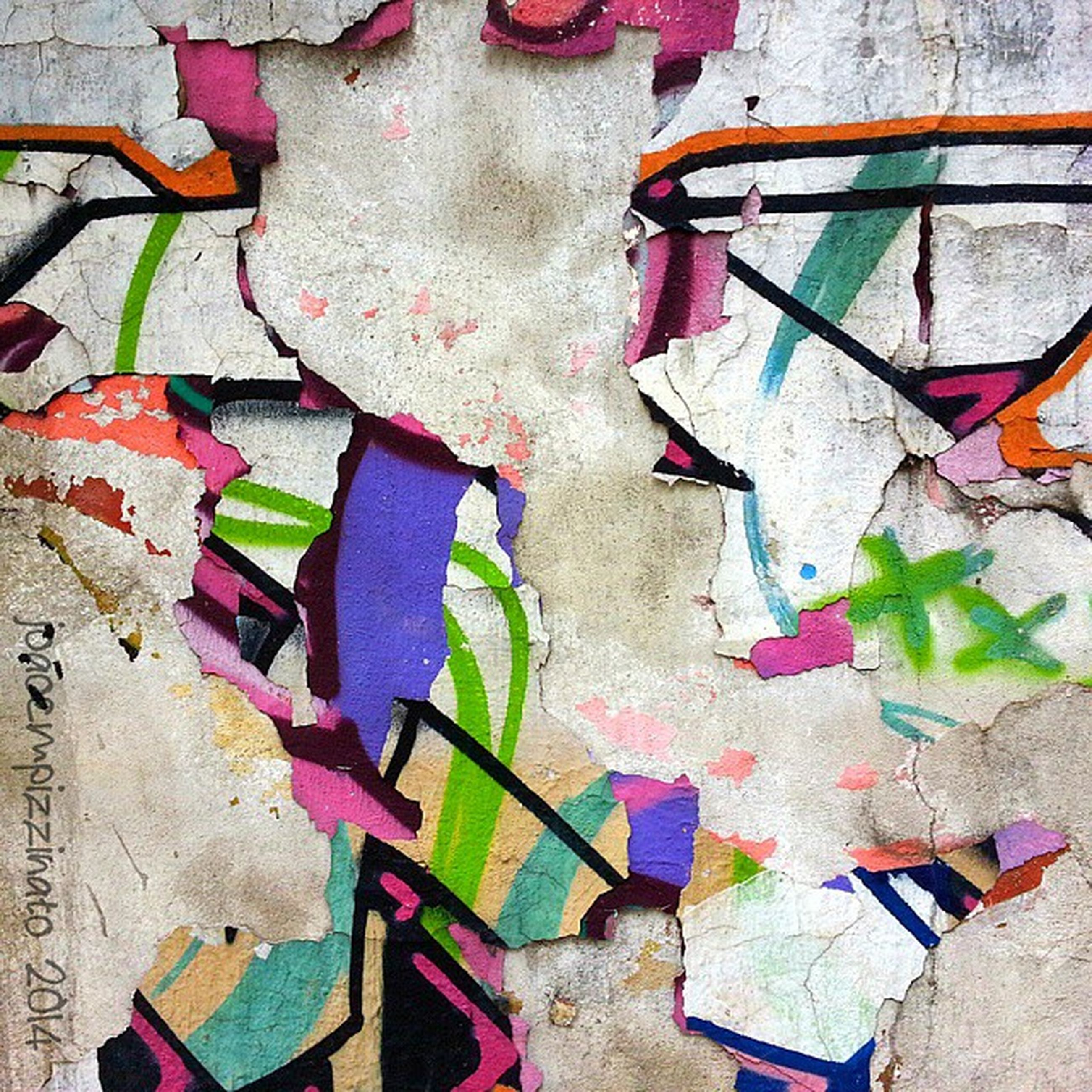 wall - building feature, multi colored, built structure, architecture, wall, graffiti, creativity, art and craft, messy, old, art, abandoned, variation, hanging, clothing, high angle view, colorful, no people, building exterior, chair