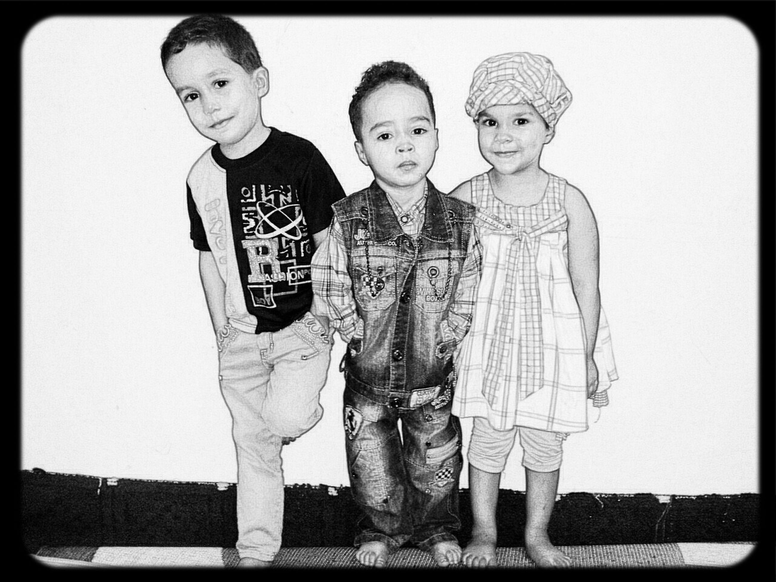 transfer print, togetherness, lifestyles, person, leisure activity, bonding, portrait, auto post production filter, childhood, looking at camera, love, casual clothing, front view, happiness, smiling, boys, elementary age, family