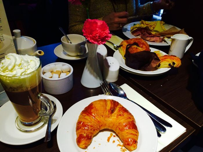 Breakfast French Croissant Get Up Morning Eating Petit Dejeuner