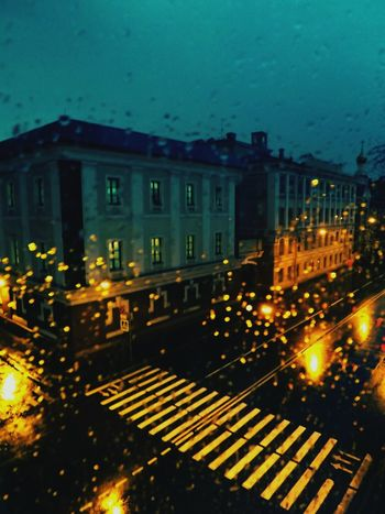 Дождь вечер асфальт