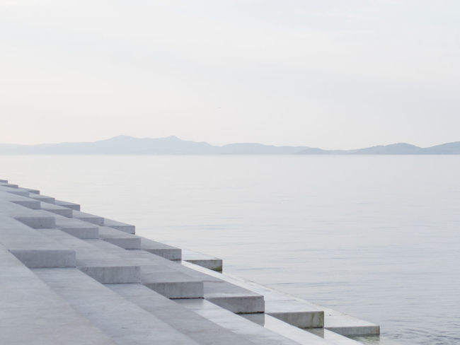 Copy Space Early Morning Monochrome Sea And Sky Sea Organ Solitude Tourist Attraction  Tourist Destination Tranquility Travel Destinations Waterfront