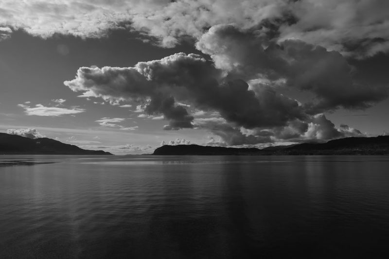 Sky over fjord