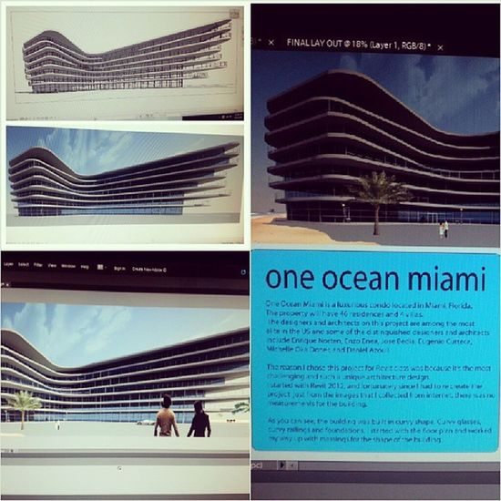 Hopefully Enrique Norten will be proud of me..Oneoceanmiami Revit  Massing Rendering photoshop illustrator designer designerforlife architecture revolution design lifeelvolved drafting art architecturallayout