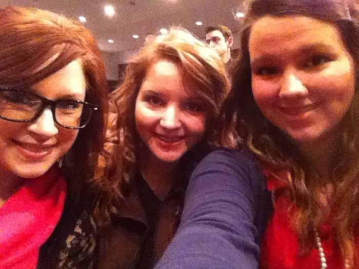 Me, Becca, & Lindsey at the the FBLA conference. Love them. (: