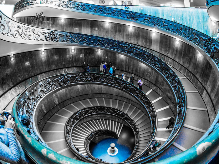 Staircase Steps And Staircases Spiral Railing Steps High Angle View Architecture Spiral Staircase Spiral Stairs Stairs Built Structure Indoors  Vatican Vatican Museum Roma Moving Around Rome